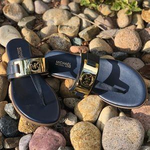 Michael Kors Warren Flat Saffiano Thong Sandals